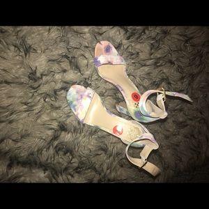 Flower water colored heels